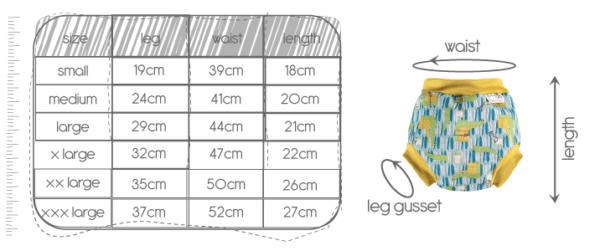 couche bains guide des tailles