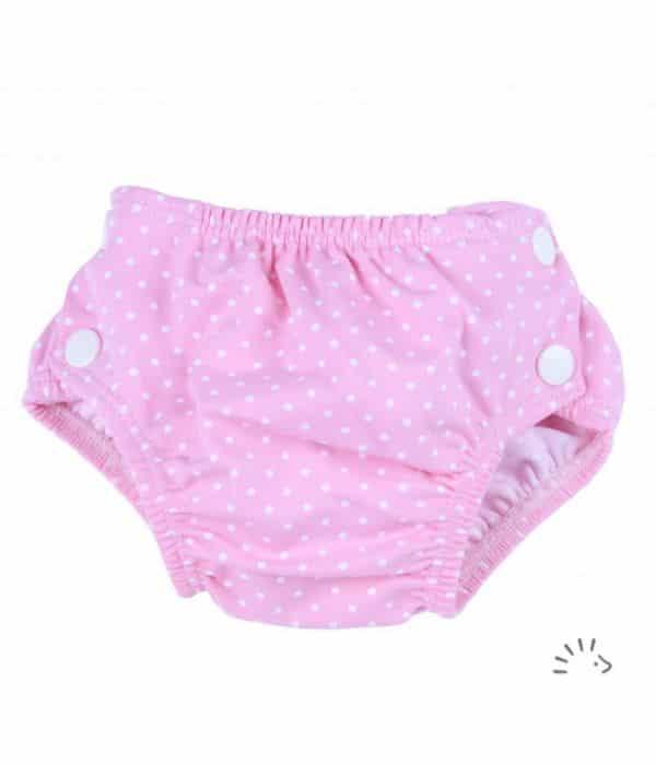couche bains-Dots Pink